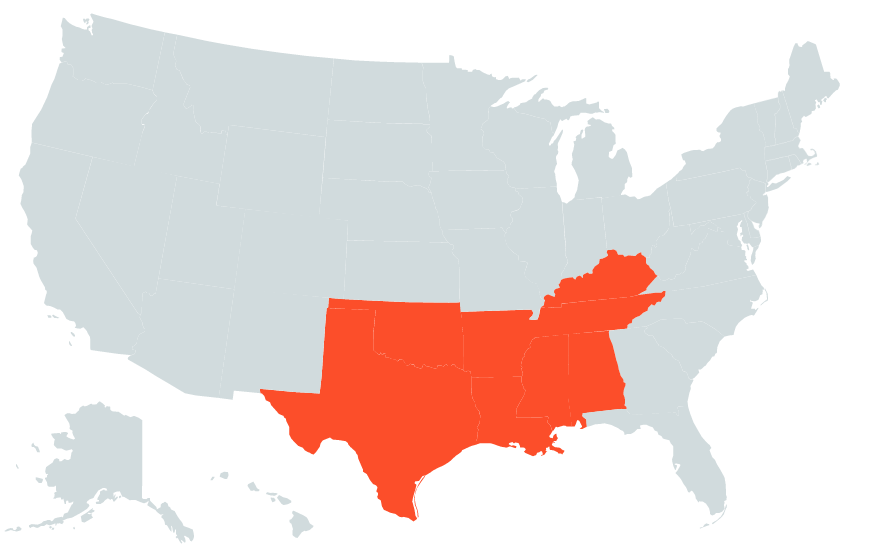 The Most Dangerous Regions For Plastic Surgery In The US - Us map showing cosmetic surgeries